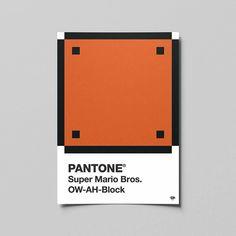 PANTONE Super Mario Bros. OW-AH-Block  #pantone #mystery #block #mario #supermario #bros #art #games #work #graphicdesign #graphic #design #artwork #photoshop #pixel #pixelart #illustrator #adobe #flyer #geek #mockup #colorful #illustration #design #nintendo #videogames #color #vector #creative #myart