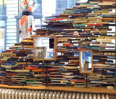 Amazing Anthropologie window display. photo by John C Abell (flickr) #books    Maybe could be a use for all these books we have lying around #movinghouse