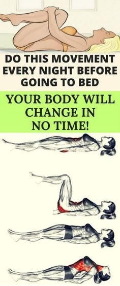 DO THIS MOVEMENT EVERY NIGHT BEFORE GOING TO BED, YOUR BODY WILL CHANGE IN NO TIME! – Women z Fitness