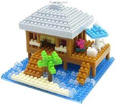 nanoblock - Resort Cottage w/Nanoid