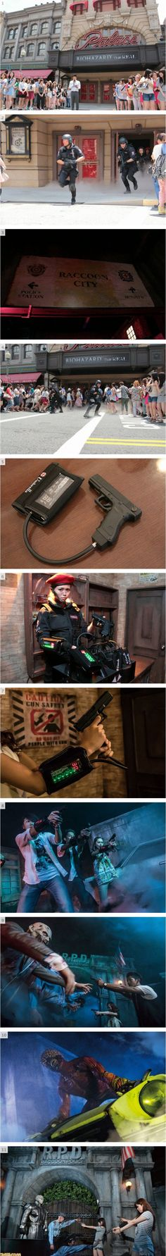 Real Life Resident Evil in den Universal Studios in Japan Awesomeness Zombie Apocalypse Party, Universal Studios Japan, Geek Style, George Town, Japan Time, Faith In Humanity Restored, Going Insane, Geek Out, Over The Rainbow