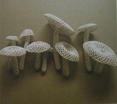 pinatasmashing:    (via yesyesyesss)    Crocheted mushrooms by Jung Jung  http://www.jungjung.jp/index_next_0220.html