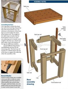 #1155 Tilting Carving Table Plans - Wood Carving Patterns and Techniques