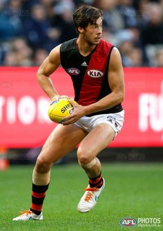 Buy official AFL prints of your favourite AFL players and AFL moments Essendon Football Club, Australian Football, Sport Man, Rugby, Beautiful Men, Photo Galleries, Blues, Soccer, Sports