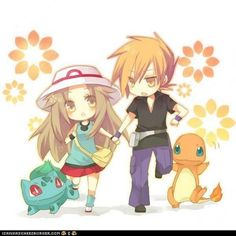 Zerochan anime image gallery for Holding Hands, Running. Gen 1 Pokemon, Pokemon Ships, Pokemon Fan Art, Pokemon Stuff, Digimon, Pokemon Couples, Pokemon Special, Pokemon Images, Cute Chibi