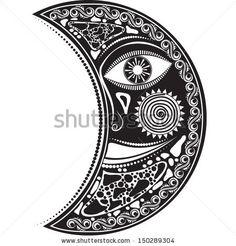 Vector illustration of slavic symbols tattoo design in black and ...