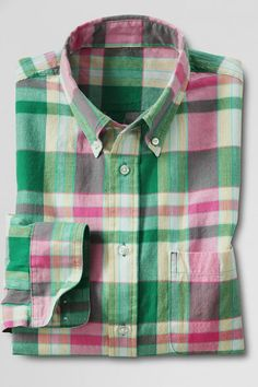 Jupiter Multi Plaid Madras Shirt.