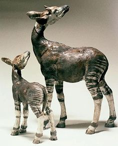 Gorgeous Okapi by Nick Mackman animal sculpture