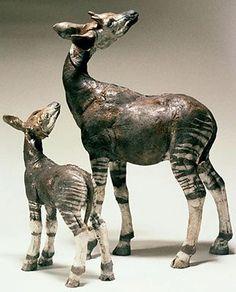 Gorgeous Okapi by Nick Mackman animal sculpture