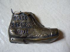 Antique 'Three Feet in One Shoe' Figural Tape Measure; Circa Early 1900'S