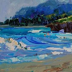 "Daily Paintworks - ""North Shore Beauty, Oahu, Hawaii SOLD"" - Original Fine Art for Sale - © Dreama Tolle Perry"