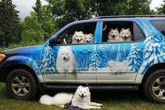 A car that let's people know you're crazy about dogs even when they're not around