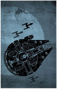 Star Wars Posters Set of 3 Posters - Star Wars Poster - Ideas of Star Wars Poster - - Millenium Falcon Star Wars Star Wars Fan Art, Star Wars Poster, Millennium Falcon, Geeks, Decoracion Star Wars, Illustration Inspiration, Star Wars Spaceships, Retro Poster, Poster Vintage