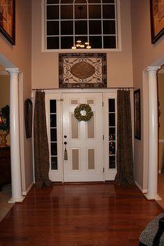 Front Door Curtains How To DIY Handmade Happiness Pinterest - Front door curtain