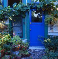 lovely blue door