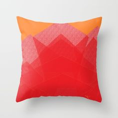 "Check out @Society6 pillow design  by ANoelleJay (@anoellejay) titled ""Colorful Red Abstract Mountain""  https://society6.com/product/colorful-red-abstract-mountain_print   Home decor and interior design solutions!"