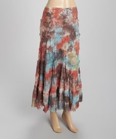 Another great find on #zulily! Rust & Teal Peasant Maxi Skirt #zulilyfinds