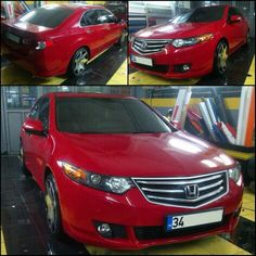 Honda Accord chili red folyo uygulamasi. (0212) 286 48 43  www.autovizyon.com