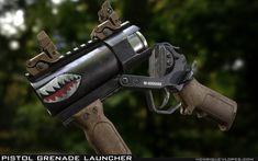 ArtStation - Pistol Grenade Launcher, Henrique Lopes                                                                                                                                                      More