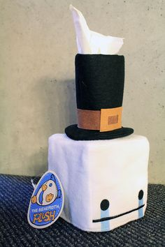 New Hatty Hattington Tissue Box Cover! Coming soon to #PAXEast2015 (Booth 5020)