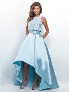 A-Line/Princess Scoop Sleeveless Floor-Length Satin Dresses JollyProm