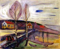 """bofransson: """"Early Spring in Åsgårdstrand Edvard Munch - 1905 """""""