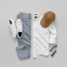 Best Smart Casual Outfits, Casual Summer Outfits, Sneakers Outfit Men, Sneakers Fashion, White Sneakers, Women's Sneakers, Sneakers Sale, Stylish Men, Men Casual