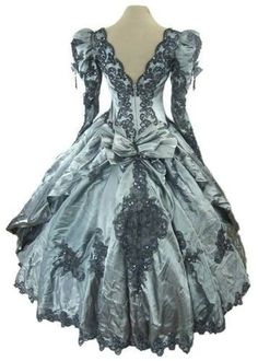 Gothic Steampunk Victorian Ball Gown Wedding Dress Rococo Masquerade Cosplay