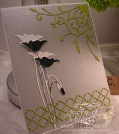 Elegant Poppy with Memory Box dies by BMZ - Cards and Paper Crafts at Splitcoaststampers