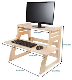 Image result for diy adjustable standing desk converter