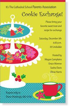Cookie Swap Invite Printable Party Time Chirstmas Cookie