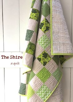 Shire Quilt ... I like the extra quilting around each block.