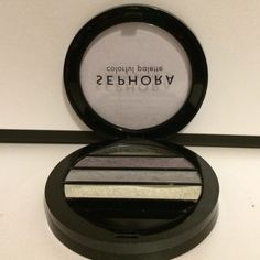 Sephora Eye Shadow Palette Used condition. However almost all of the 3 colors are there except the black. Sephora Makeup Eyeshadow