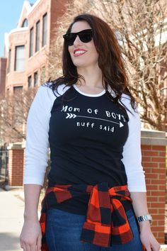 MoM of BoyS NuFF SaiD Mom T Shirt Mommy and Me Mom by Little17Shop