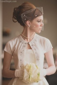 "I love the sweater! ""Vintage Bride wedding dress vintage bride classic 50s 60s veil netting"""