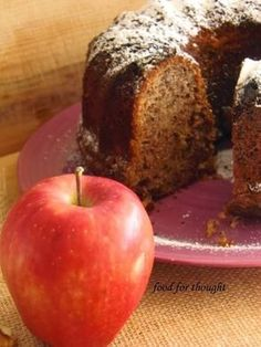 Food for thought: Κέικ Μήλου Greek Sweets, Greek Desserts, Greek Recipes, Apple Cinnamon Cake, Apple Cake, Tea Cakes, Cupcake Cakes, Cypriot Food, Crazy Cakes