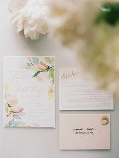painted garden invitations