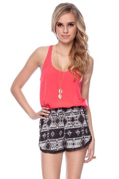 Love the tribal and the pink! Cute for summer!! :)