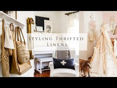 Styling Thrifted Linens - YouTube White Cottage, Slow Living, Homemaking, Linens, Thrifting, Crafty, The Originals, Simple, Youtube