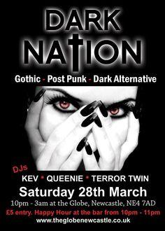 Dark Nation @ The Globe, Newcastle.