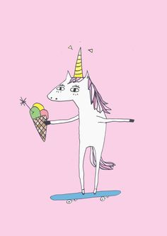Unicorn Klaus    #illustration #art #unicorn