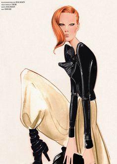 Nuno DaCosta #fashionillustration #sketch #drawing