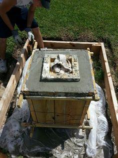Concrete form for a 320lb pot!
