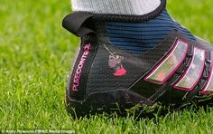 Paul Pogba got his personal Twitter emoji printed on his Adidas boots for Sunday's game