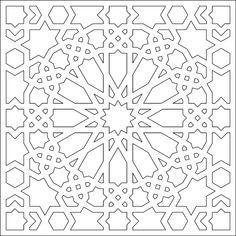 Islamic Art Pattern, Arabic Pattern, Textile Pattern Design, Pattern Art, Stencil Templates, Quilting Templates, Motif Arabesque, Alpona Design, Foto Poster