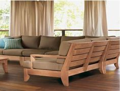 outdoor sectional #patio #furniture #wood #outdoor