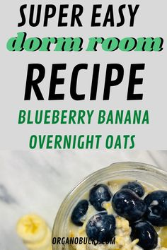 Easy overnight oats that are perfect for busy college students on the go. This healthy recipe can be made in your dorm room and can be eaten for breakfast or aa a healthy dorm room snack for later. #overnightoats #vegan #healthysnacks #healthybreakfast #healthysnacks Healthy College Snacks, College Food Hacks, Easy Meal Prep, Healthy Meal Prep, Healthy Eating, College Meal Planning, Easy Overnight Oats, Healthy Breakfast Smoothies, Foods To Eat