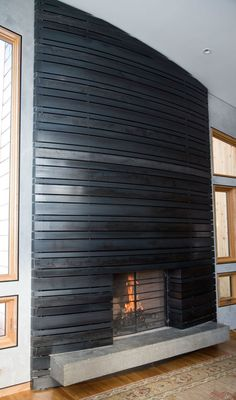 Ben Roth Design - Custom Sculpture, Public Art and Furniture - Wood, Metal, Clay, Bronze - Located in Jackson Hole Wyoming Metal Fireplace, House Design, Home Fireplace, Building A House, Fireplace Design, Metal Building Homes, Metal Shop Building, Fireplace Mantels, Modern Fireplace