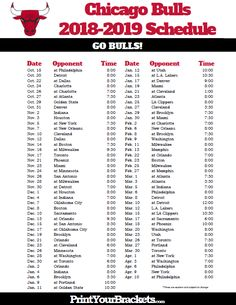 Agile image with chicago bulls schedule printable