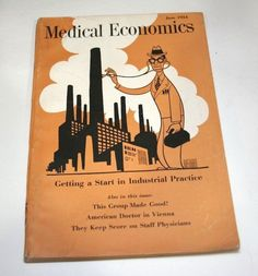 June 1954 Medical Economics Vtg Doctor Pharmaceutical Advertising Magazine 1950s